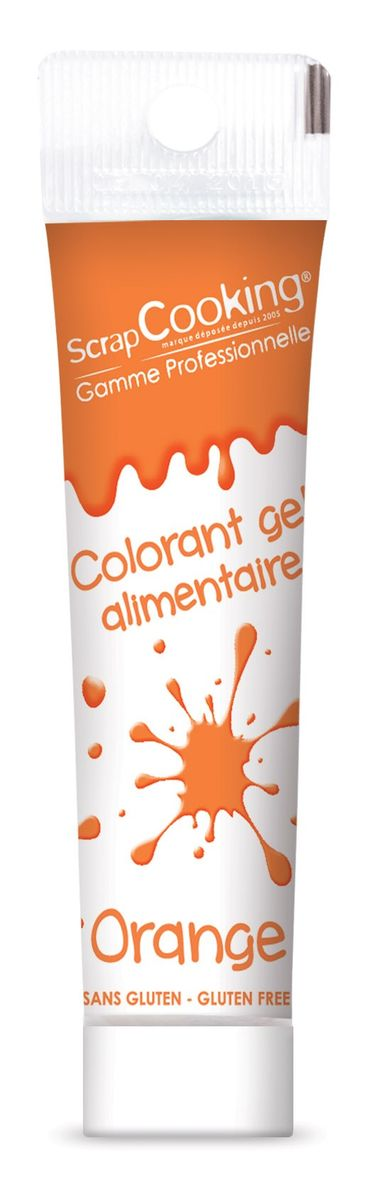 Colorant alimentaire gel orange 20 gr - Scrapcooking