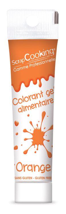 Colorant gel alimentaire orange 20 gr - Scrapcooking