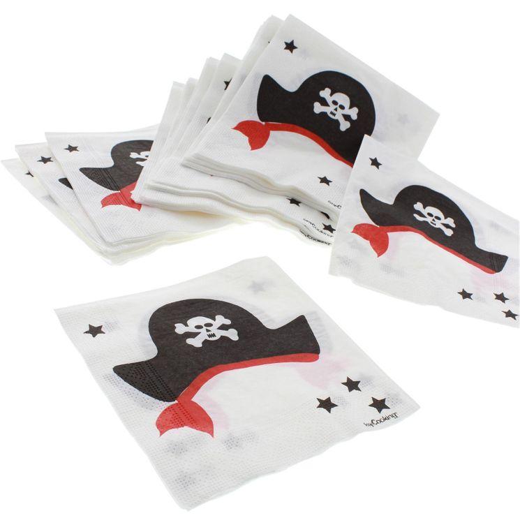 20 serviettes pirate 25x25cm - Scrapcooking Party