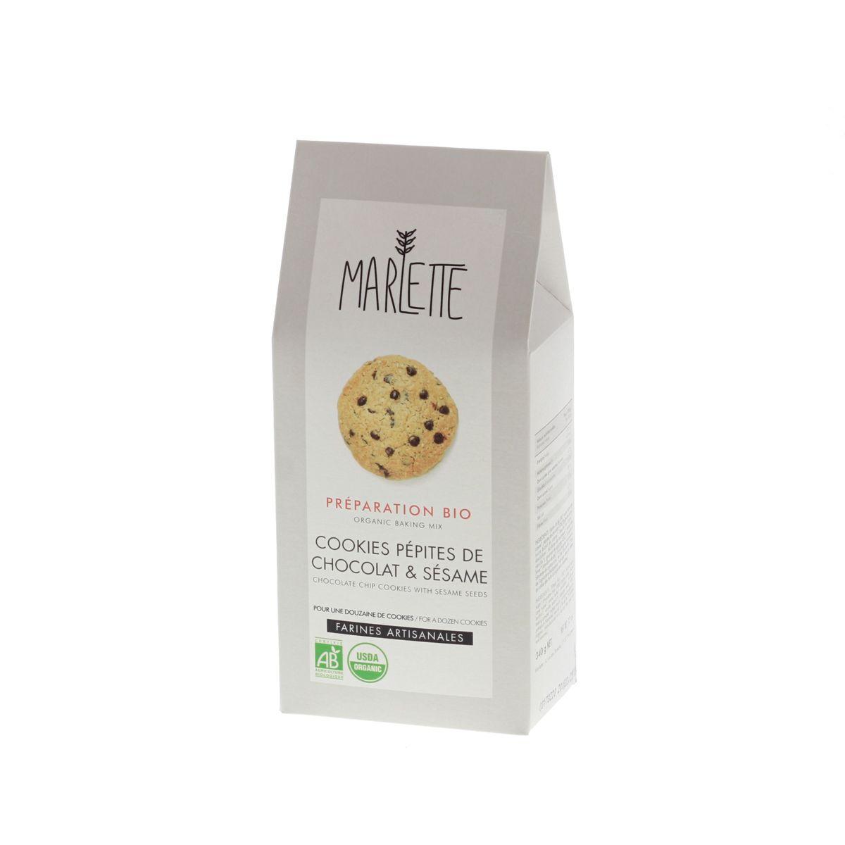 Préparation pour cookies au chocolat et sésame bio 340gr - Marlette
