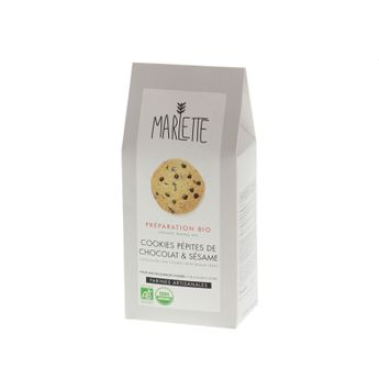 Achat en ligne Préparation bio pour cookies au chocolat et sésame 340gr - Marlette
