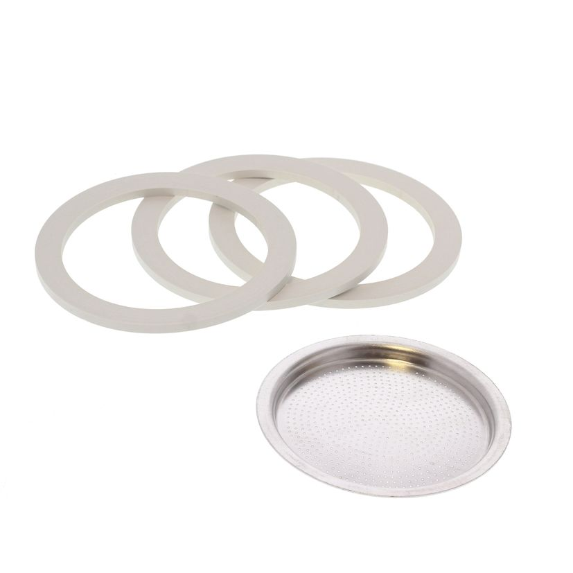 Pièce de rechange : 3 joints + 1 filtre - Venus 6 tasses - Bialetti