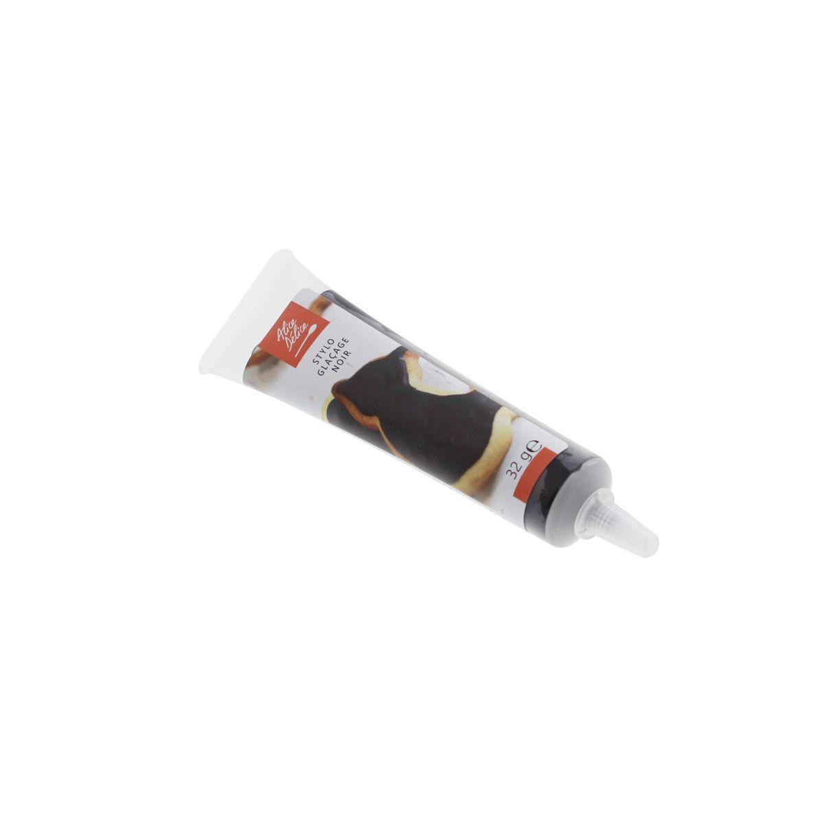 Stylo glaçage noir 32g - Alice Délice