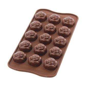 MOULE SILICONE CHOCOLATS ROSES - SILIKOMART