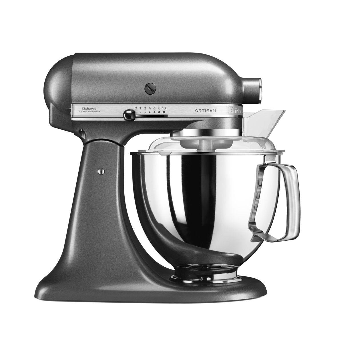 Robot pâtissier artisan gris étain 5KSM175PS 4.8 l - Kitchenaid