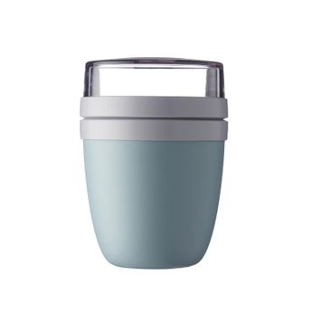Lunch pot ellipse Nordic Blue 500ml + 200ml - Mepal Rosti