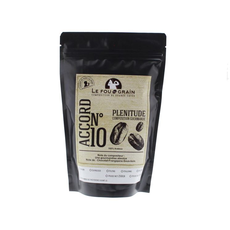 Café moulu pour cafetière filtre Plénitude Accord n°10 250gr - Le Fou du Grain