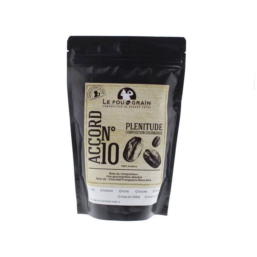 CAFE MOULU PLENITUDE ACCORD N°10 250GR - LE FOU DU GRAIN