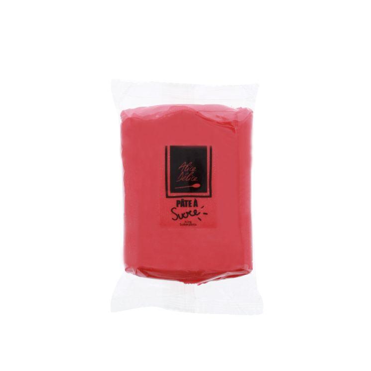 Pâte à sucre rouge 250g - Alice Délice