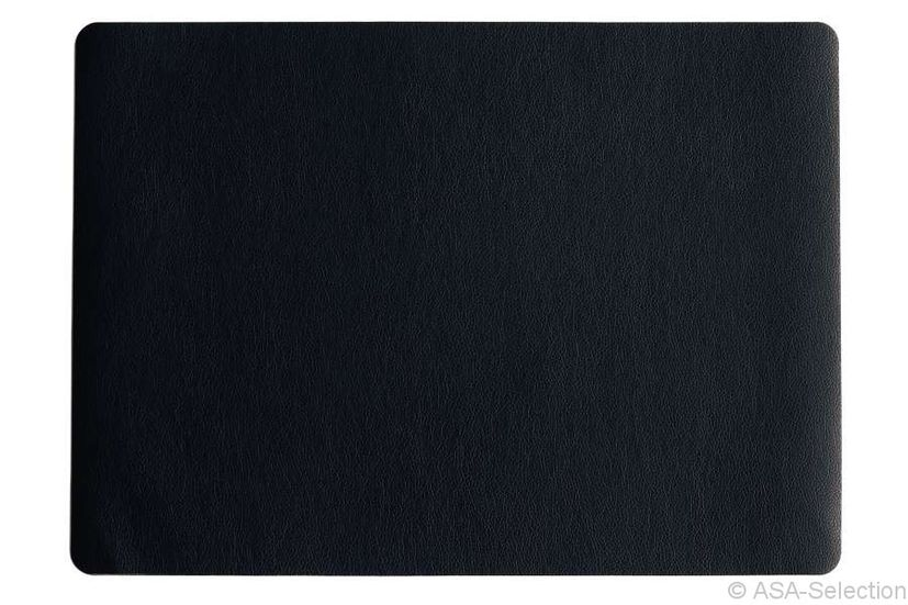 set de table simili cuir noir 33 x 46 cm alice d lice. Black Bedroom Furniture Sets. Home Design Ideas