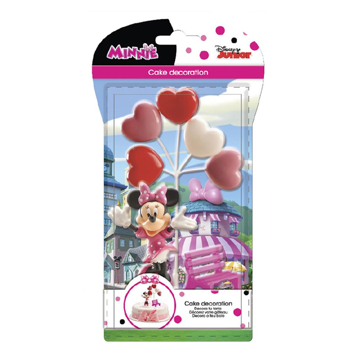 SET DECOR GATEAU MINNIE - DEKORA