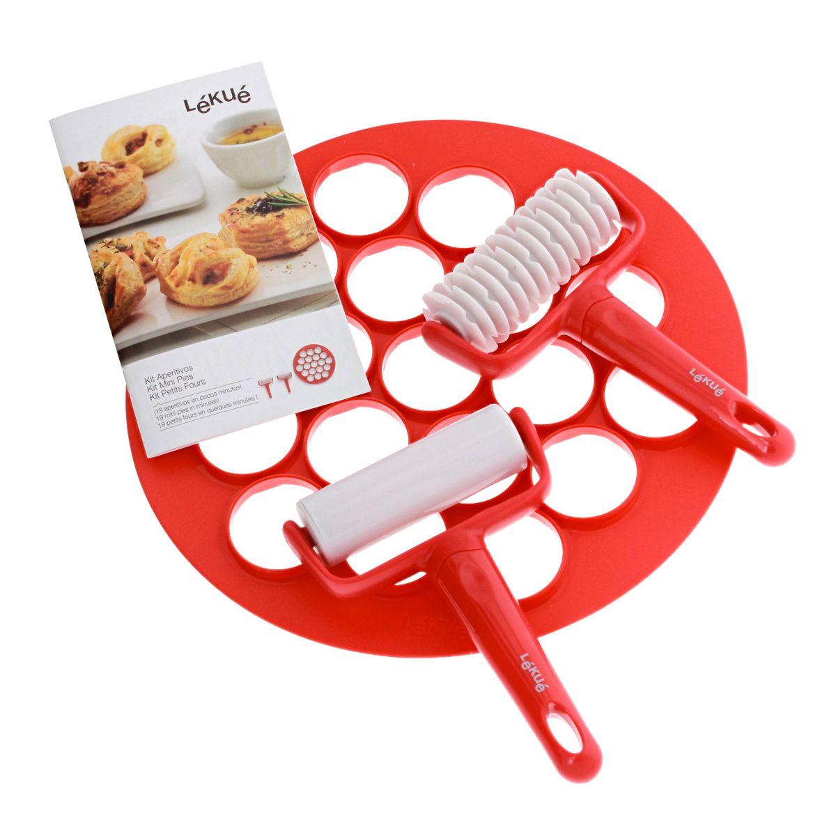Coffret petits fours rouge et blanc 30 cm - Lékué