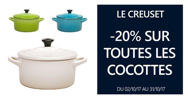 -20% sur toutes les cocottes LE CREUSET