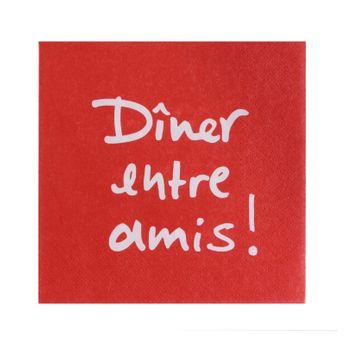Serviettes 33cm x 33cm dîner entre amis - Atelier