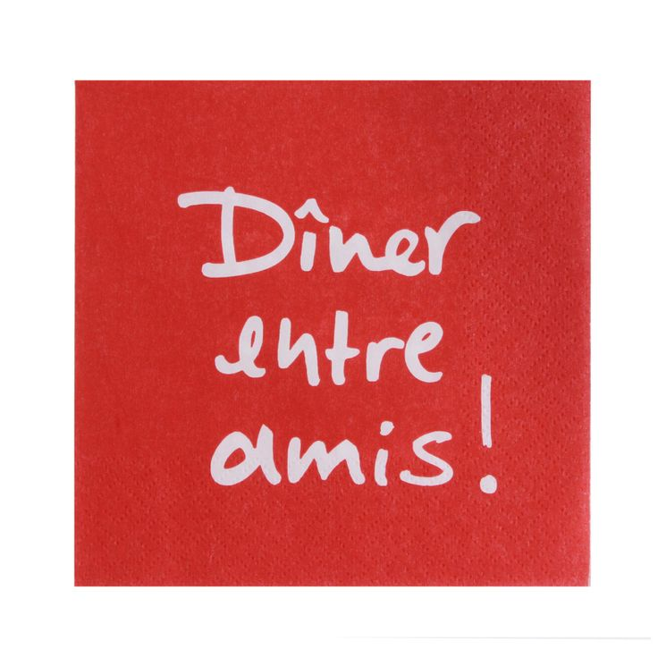 SERVIETTES 33CM X 33CM DINER ENTRE AMIS - ATELIER