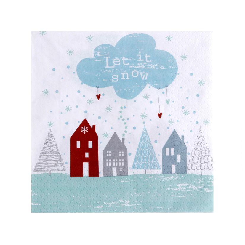 SERVIETTES LET IT SNOW 33X33CM - AVANT GARDE