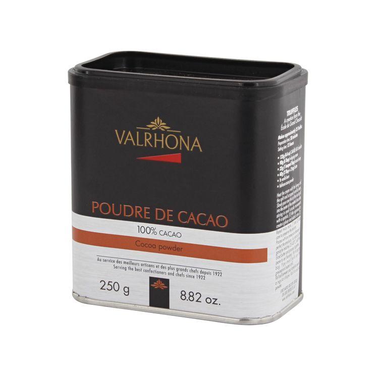 Poudre de cacao 100% cacao 250gr - Valrhona