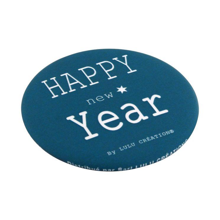 DECAPSULEUR AIMANTE HAPPY NEW YEAR BLEU - LULU CREATION
