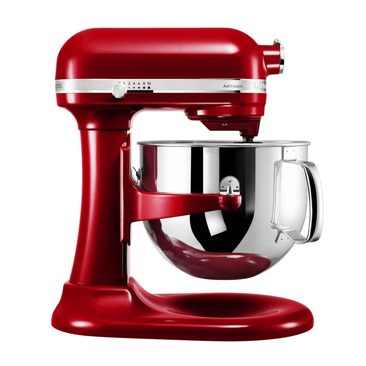 Robot pâtissier artisan rouge pomme d´amour 5KSM7580XECA 6.9 l - Kitchenaid