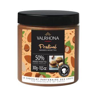 Achat en ligne Praliné amande noisette fruité 50% 300 gr - Valrhona