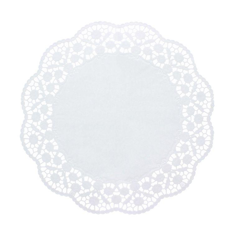 12 dentelles rondes blanches 36cm - Papstar