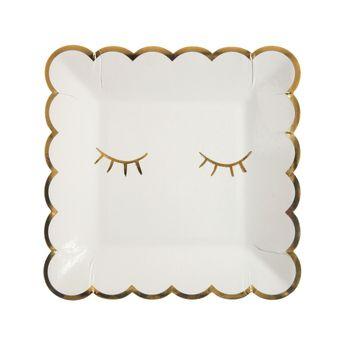 8 petites assiettes clignement d´œil - Meri Meri
