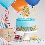 Décor de gâteau : Ballon chiffre 8 doré - Creative Converting