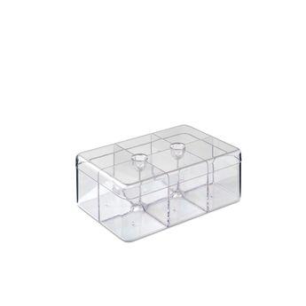 Boîte à thé rectangulaire transparente - Mepal