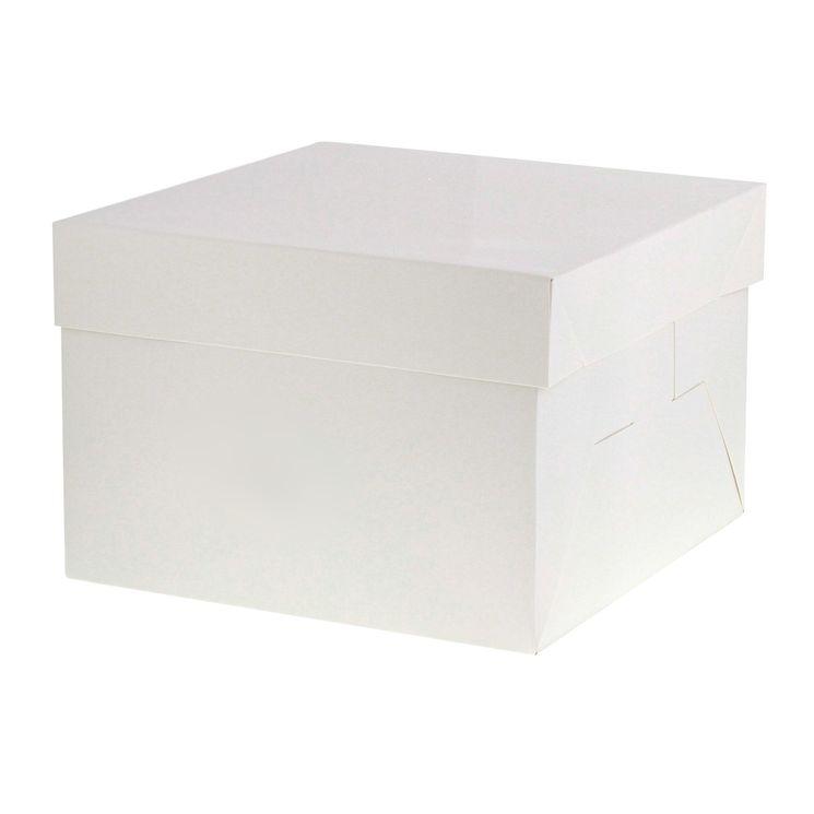 Boîte gâteaux blanche 20.3 cm x 20.3 cm x 20 cm - Patisdecor