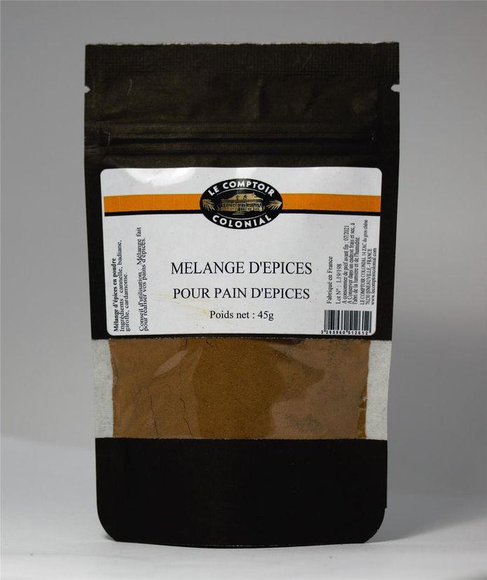 Mélange d´épices pour pain d´épices sachet 45gr - Le comptoir colonial