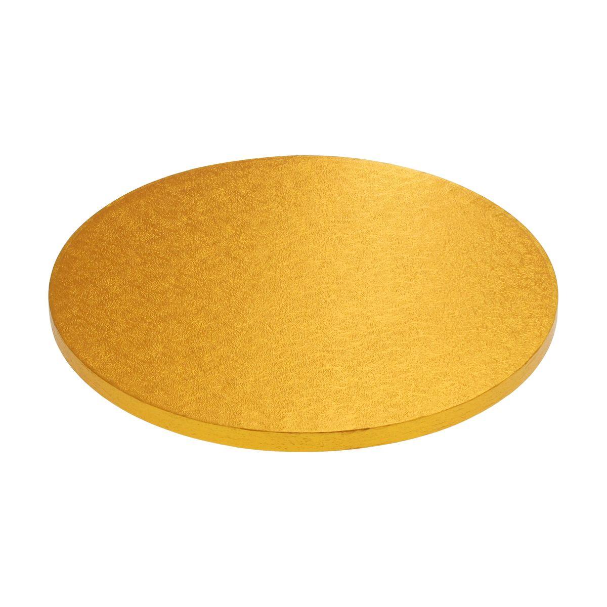 Base gâteau ronde dorée 25cm - Anniversary House