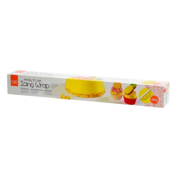 Rouleau de pâte à sucre jaune 430 gr - Voila