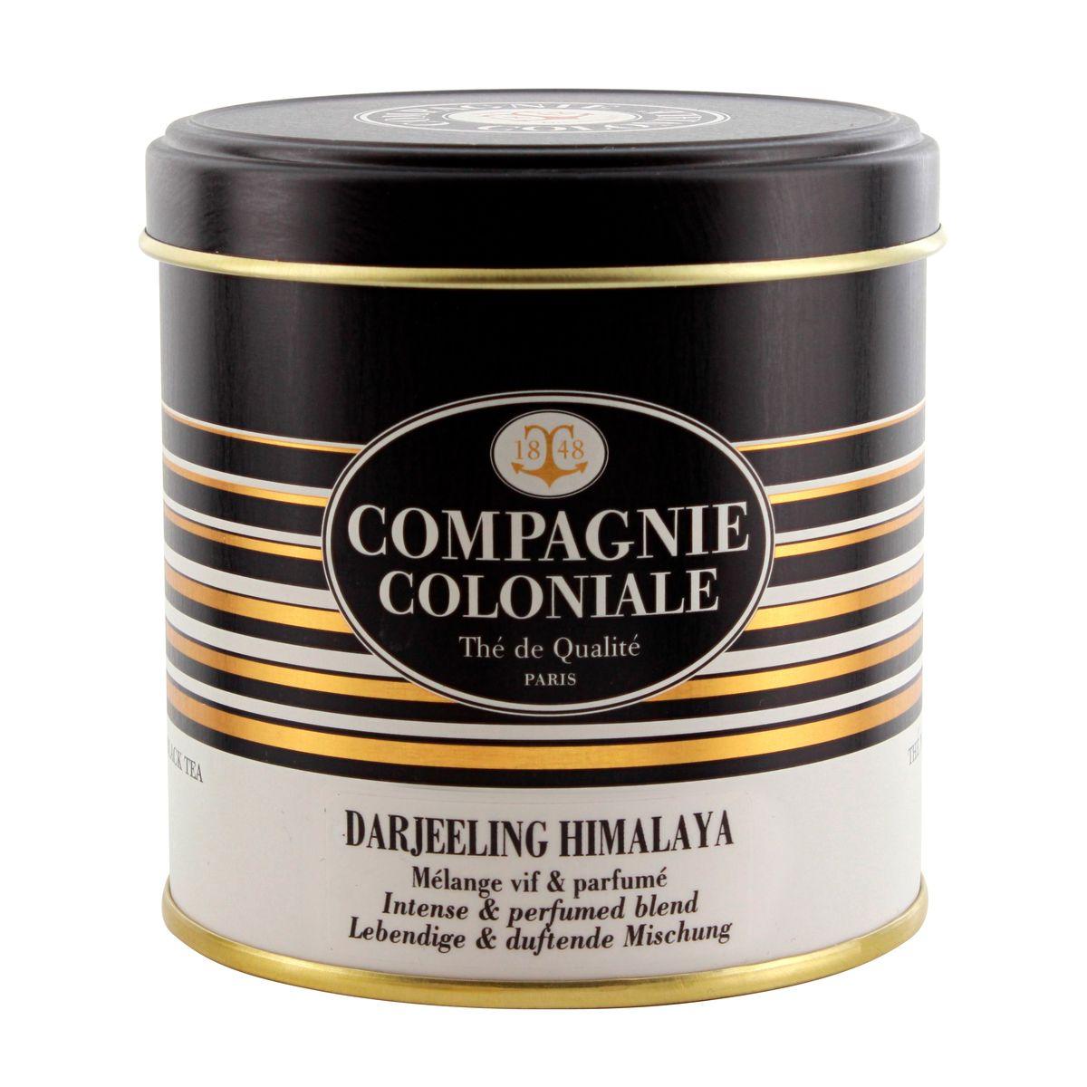 Thé noir nature boîte métal Darjeeling Himalaya 100gr - Compagnie Coloniale