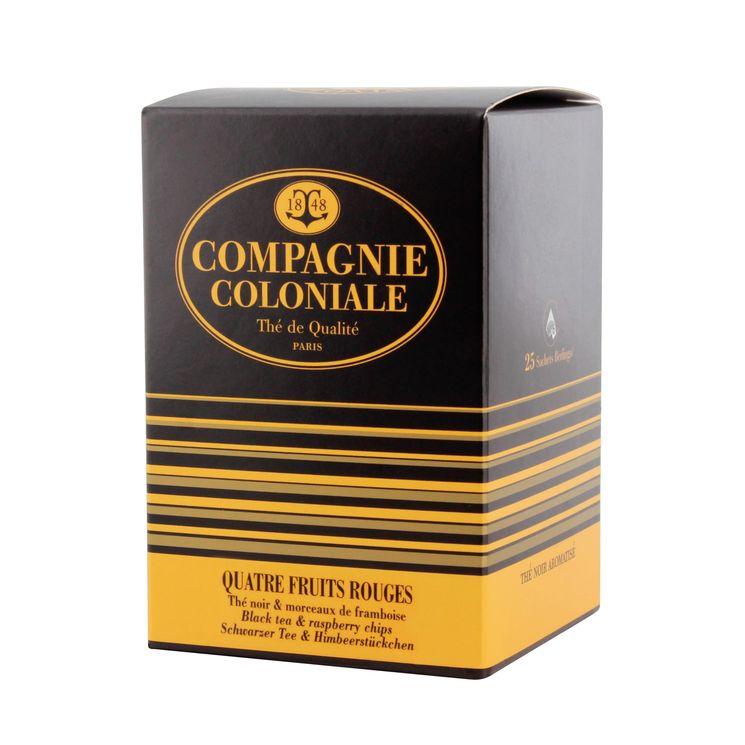 Thé noir aromatisé 25 berlingots 4 fruits rouges 50gr - Compagnie Coloniale