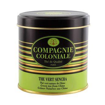 Thé vert nature et aromatisé boîte métal thé vert Sencha - Compagnie Coloniale