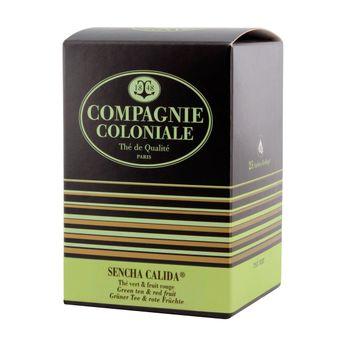 Thé vert aromatisé 25 berlingots Sencha Calida - Compagnie Coloniale