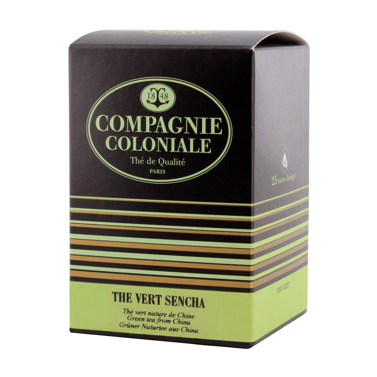 Thé vert aromatisé  25 berlingots thé vert Sencha 50gr - Compagnie Coloniale