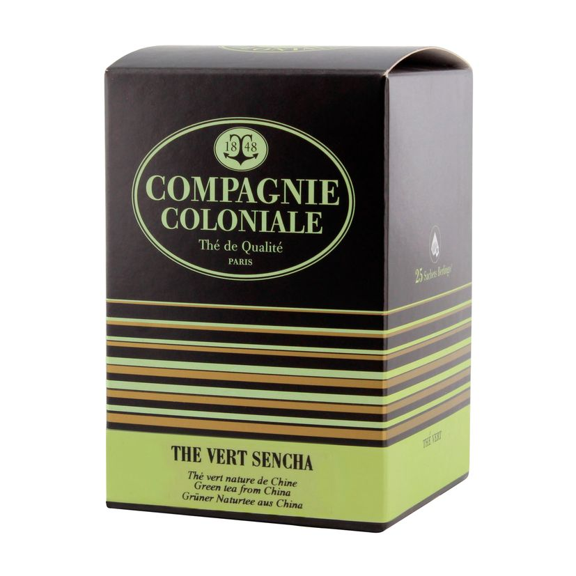 Thé vert nature et aromatisé  25 berlingots thé vert Sencha - Compagnie Coloniale