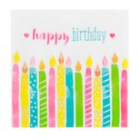 Serviettes bougies Happy Birthday 33x33cm - Atelier