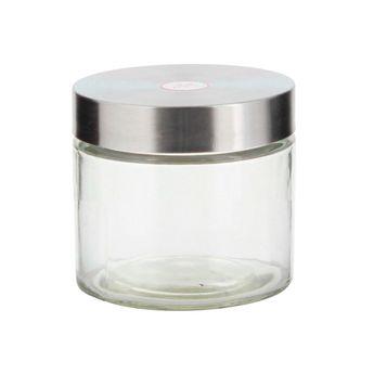 Pot rangement verre/inox 11 x 12 cm Zeller