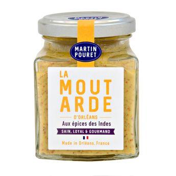 MOUTARDE D´ORLEANS AUX EPICES DES INDES 200G - MARTIN POURET