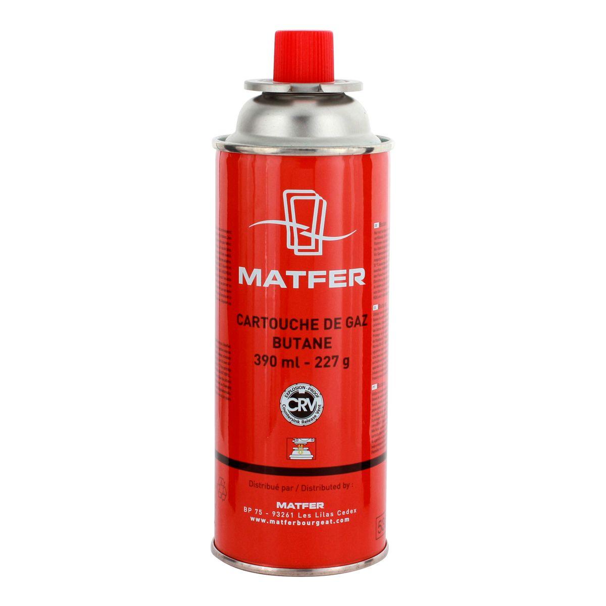 Cartouche de gaz pour chalumeau pro 390 ml - Matfer