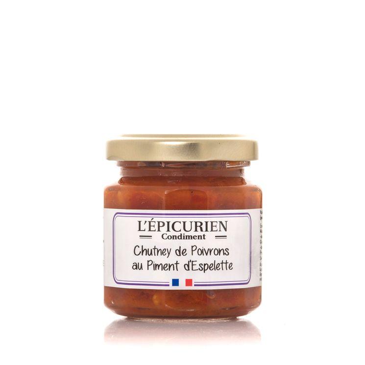 CHUTNEY DE POIVRONS AU PIMENT D´ESPELETTE  110G - L´EPICURIEN