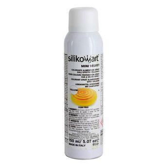 Spray effet velours coloris jaune 150ml - Silikomart