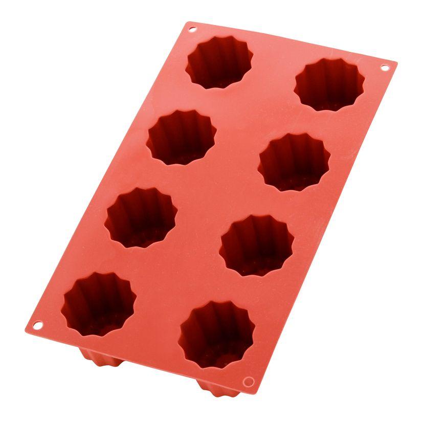 Moule en silicone 8 cannelés - Silikomart