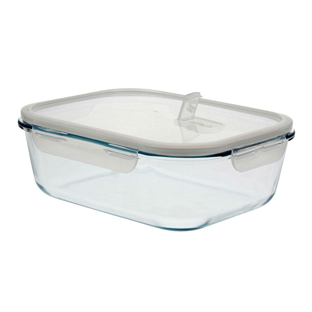Boîte rectangulaire en verre 2250 ml - Pebbly