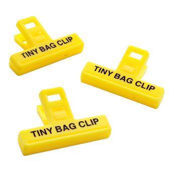 Pinces à sac petites 3pc 5 cm plastique - Kitchencraft