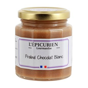 Pâte à tartiner praliné chocolat blanc - L´Epicurien