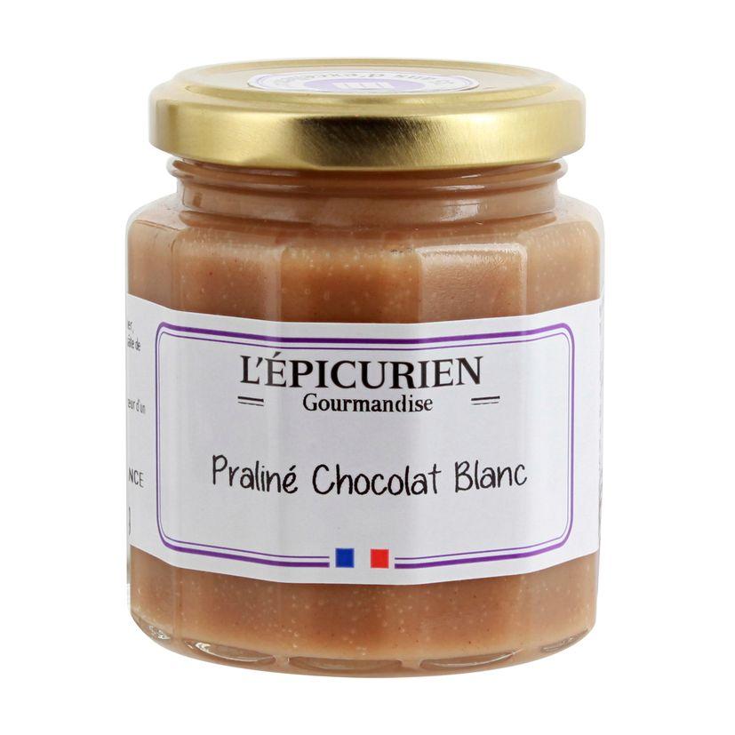 Pâte à tartiner praliné chocolat blanc 200 g - L´Epicurien
