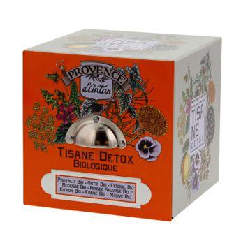 CUBE METAL TISANE DETOX 24 SACHETS BIO* 60G - PROVENCE D´ANTAN